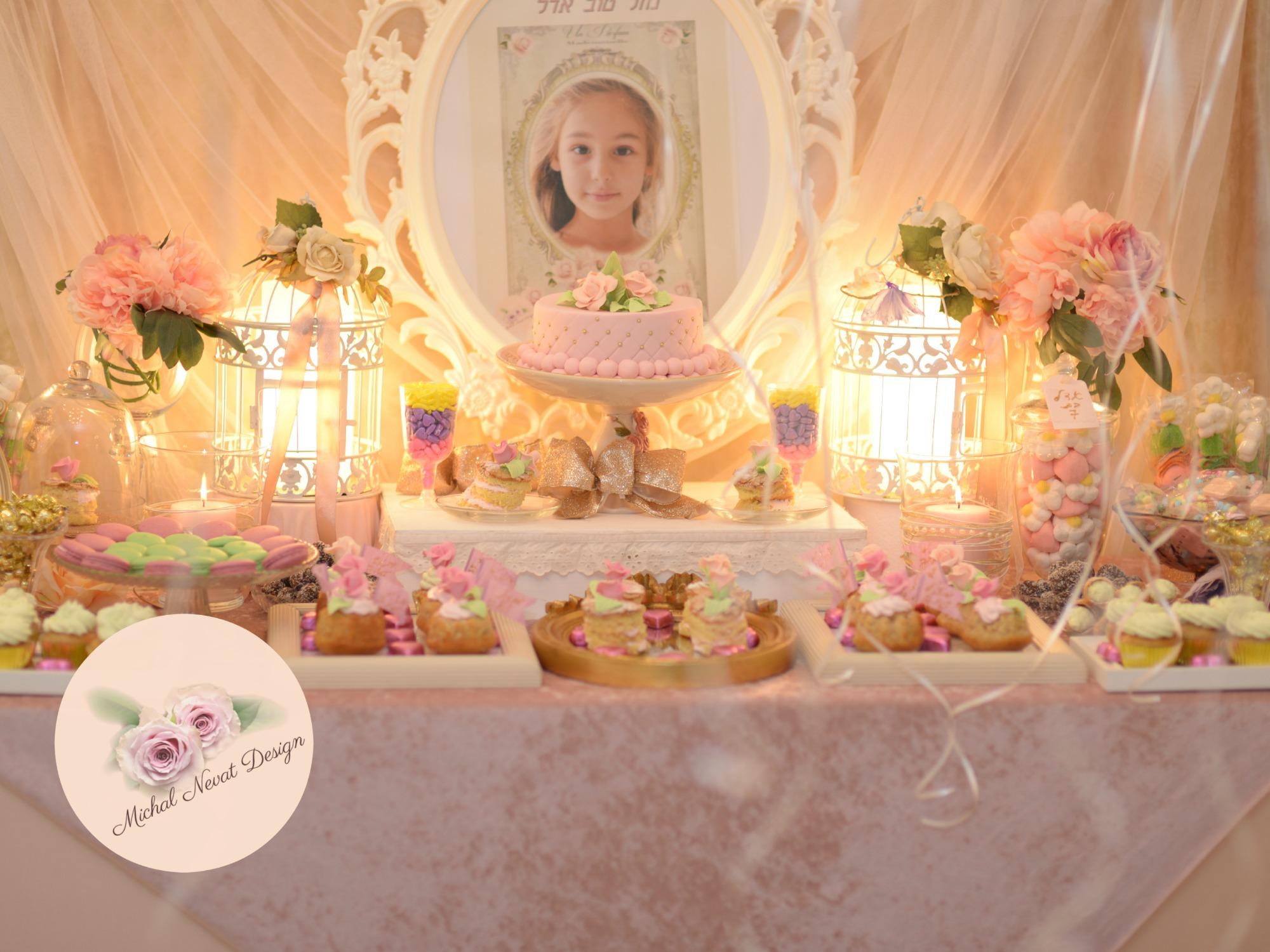 יום הולדת נסיכות - שולחן בר מתוק ליום הולדת