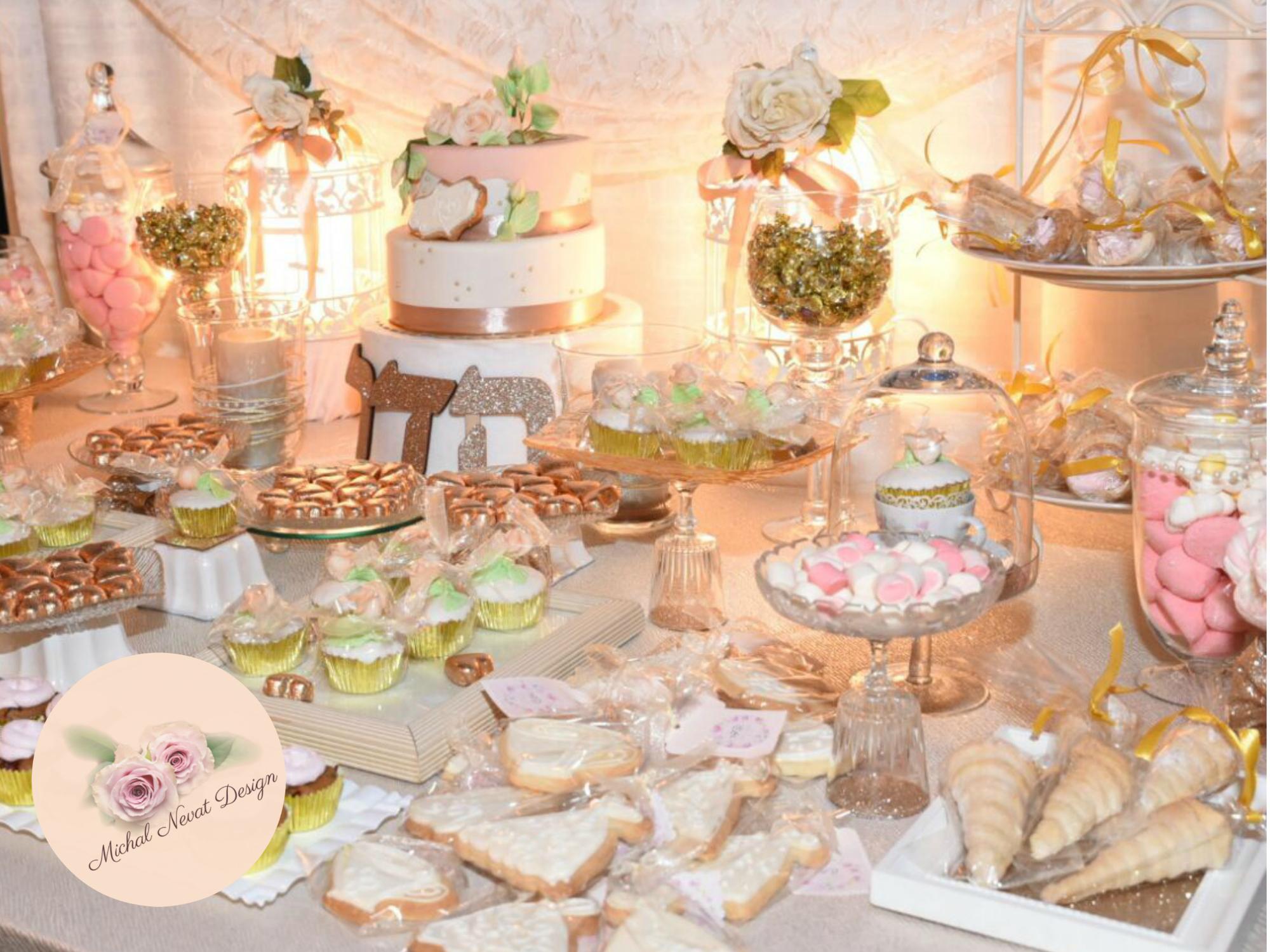 שולחן בר מתוק ליומולדת בנות, שולחן מתוק לבת מצווה