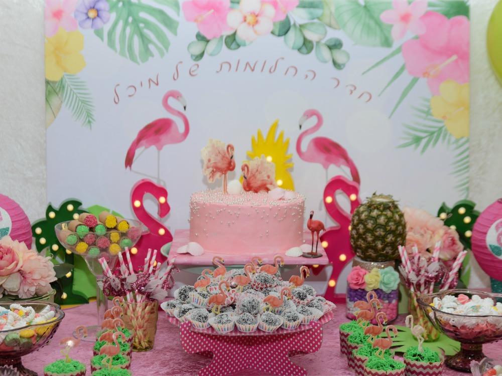 שולחן מתוק פלמינגו, שולחנות מתוקים ליום הולדת