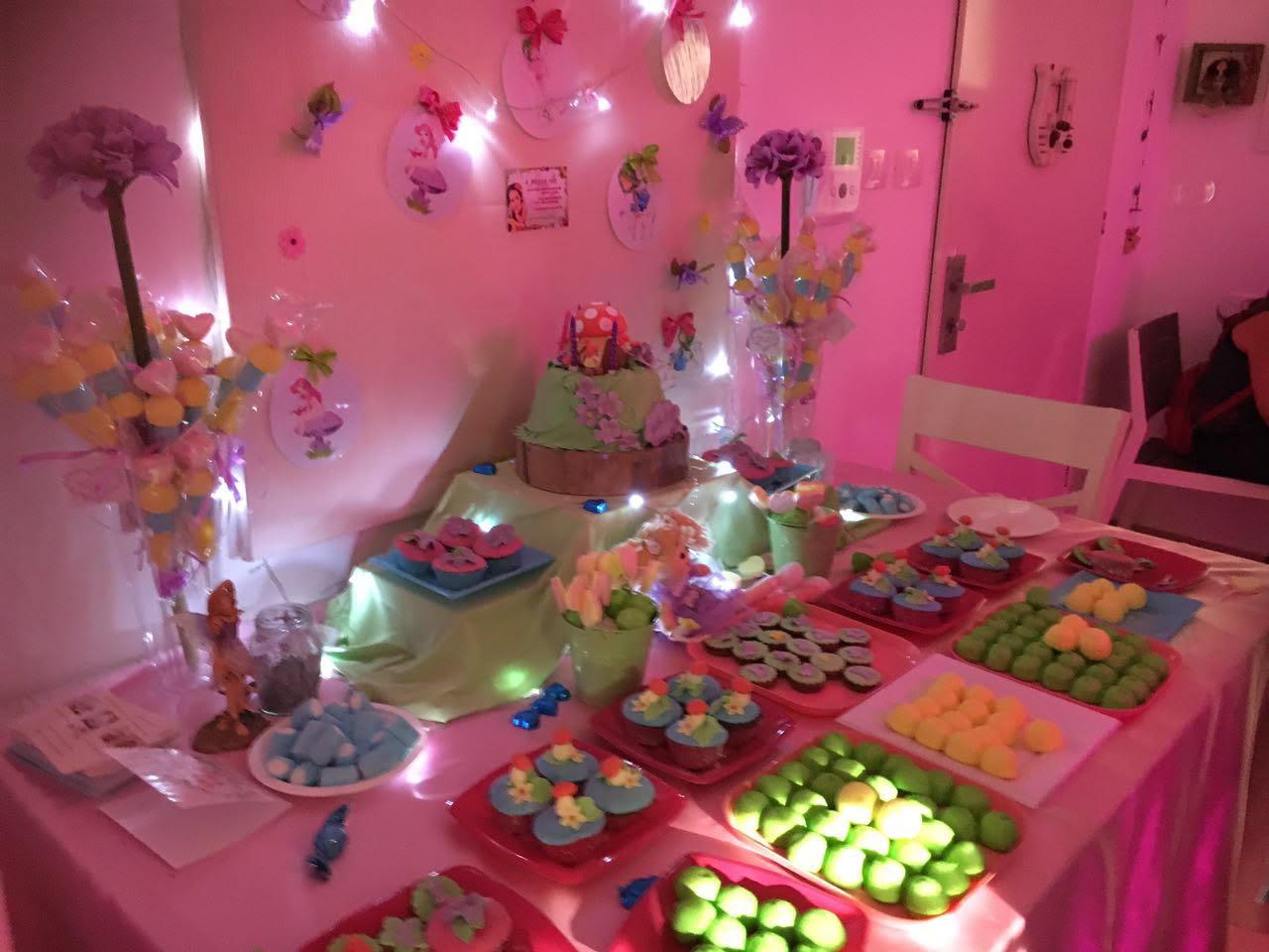 יום הולדת בנות פיות, שולחן מתוק ליום הולדת