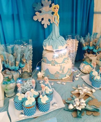 יום הולדת פרוזן אלזה ואנה, עיצוב שולחן פרוזן