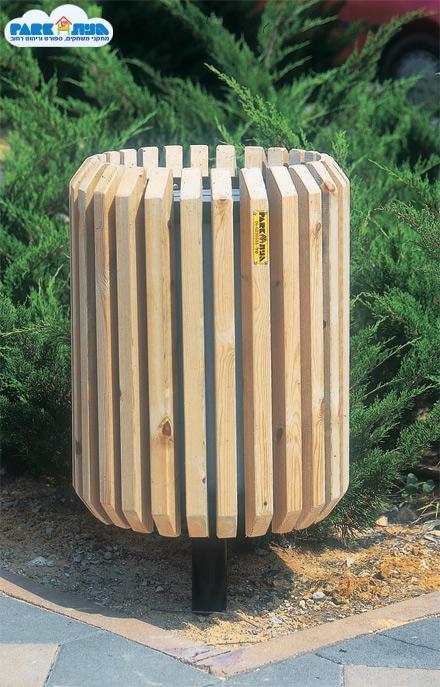 """אשפתון דגם סורבון על עמוד טבעי מק""""ט 6057"""