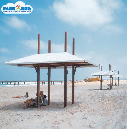 """סככת הצללה - חוף בית ינאי מק""""ט 6390"""