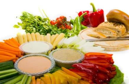ירקות עם מטבלים