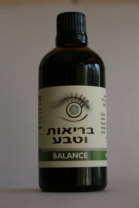 """BALANCE תמצית פורמולת צמחים 100 מ""""ל טבעית לאיזון לחץ דם גבוה."""