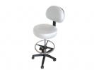 """כיסא עגול פנאומטי עם משענת גב, קוטר 39 ס""""מ (צבע לבן) MS01"""