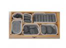 ערכת 40 אבנים חמות (בזלת ללא וקס) בארגז עץ