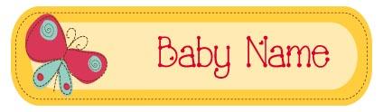 מדבקות שם לתינוק 8