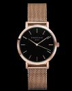 שעון יד רוספילד ROSEFIELD THE TRIBECA BLACK ROSE GOLD