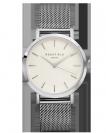 שעון יד רוספילד ROSEFIELD THE MERCER WHITE SILVER
