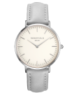 שעון יד רוספילד ROSEFIELD BOWERY WHITE GREY SILVER