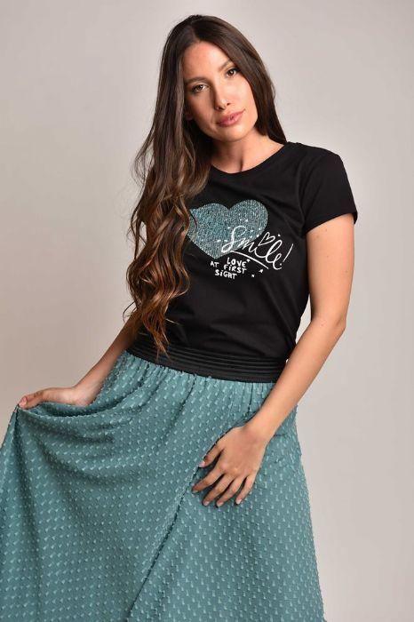 חצאית ארוכה- טורקיז