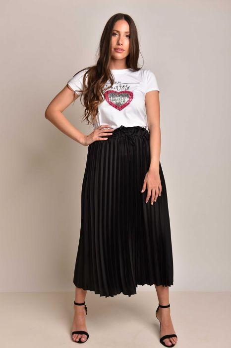 חצאית פליסה שחורה