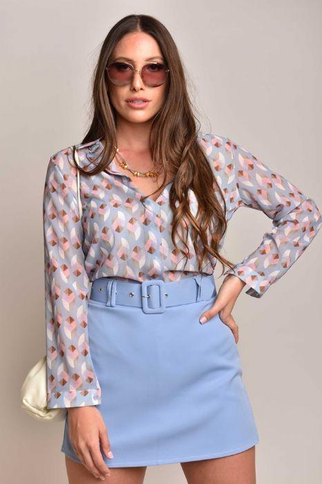 חצאית שורט סגול