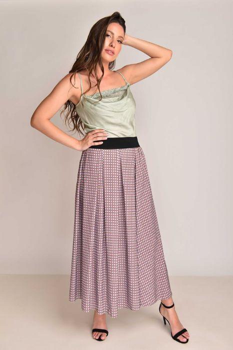 חצאית ארוכה עיגולים