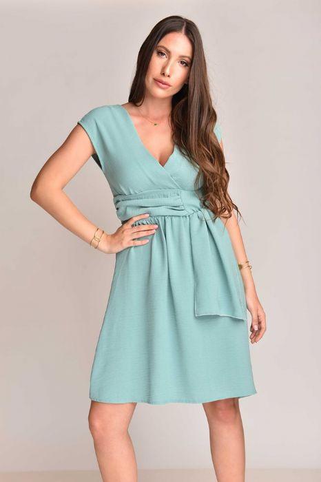 שמלה אלגנטית פיסטוק