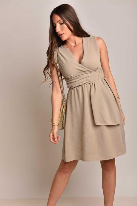 שמלה אלגנטית בגוון בז'