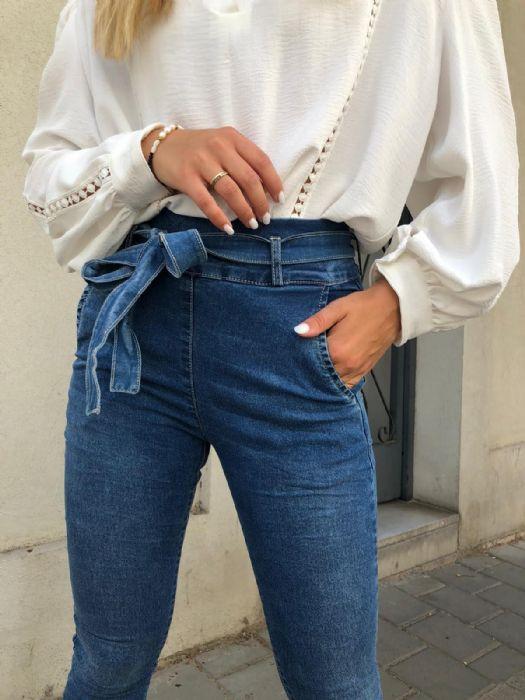 ג'ינס כחול דגם ברברה