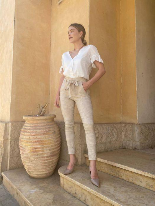 מכנסים דגם ברברה מעוינים