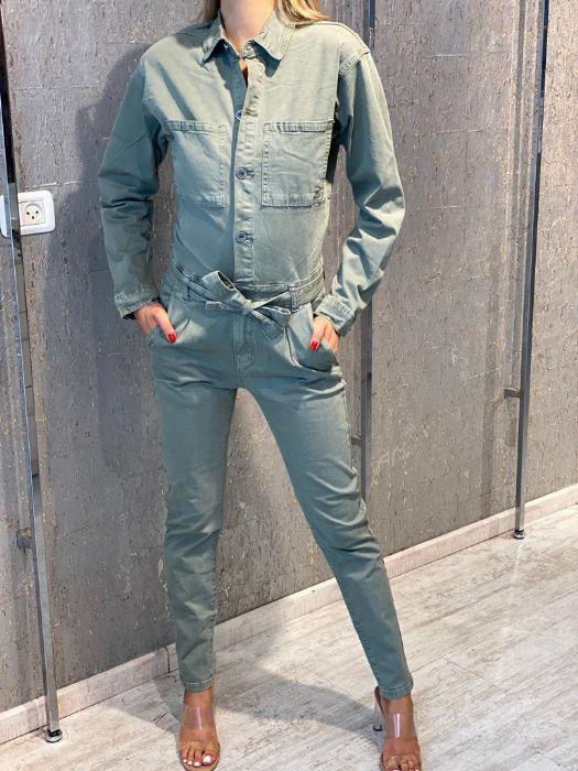 אוברול ג'ינס ירוק