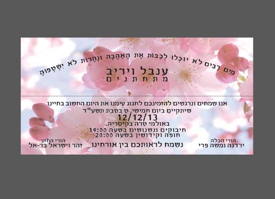 ענבל ויריב הזמנת סימניה נפתחת צד שני