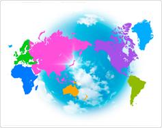 מפת גיאוגרפיה של העולם