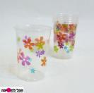 כוס עם הדפס פרחים