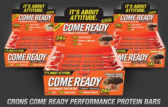 come ready protein bar