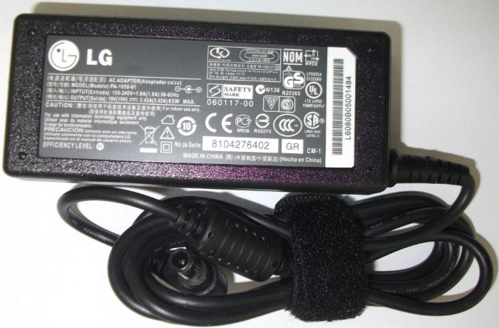 מטען למחשב נייד LG / Sony 19V 3.42A 6.0X4.4