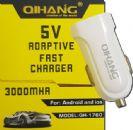 מטען USB מהיר 3A לרכב + כבל נתונים לבחירה