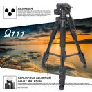 חצובה מקצועית למצלמה ZOMEI Q111 Aluminum Travel Professional Tripod & Pan Head Portable For DSLR Camera