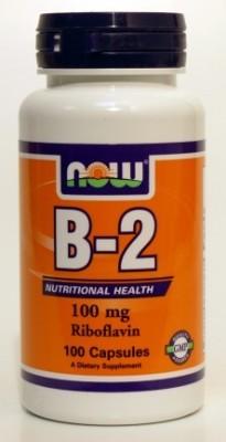 """ויטמין B2 (ריבופלאבין) 100 מ""""ג (100 כמוסות) - NOW"""