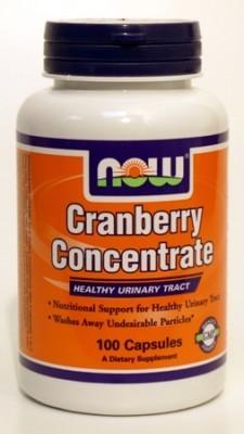תרכיז חמוציות ויטמין C (מאה כמוסות) - NOW