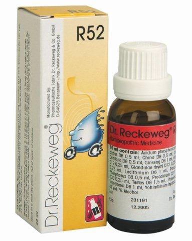 "R52 טיפות הומיאופתיות (22 מ""ל) - ד""ר רקווג Dr. Reckeweg"
