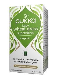 מיץ עשב חיטה אורגני (אבקה, 110 גרם) - פוקה Pukka