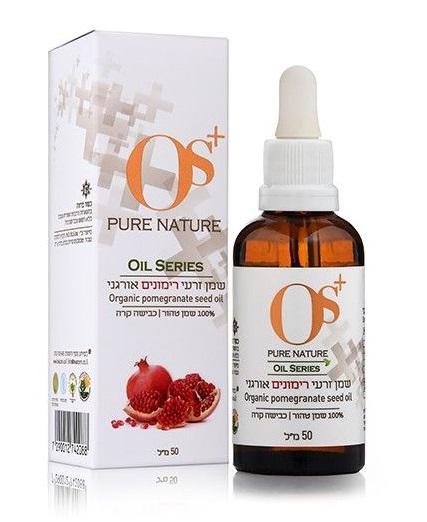 """שמן זרעי רימונים אורגני טהור (50 מ""""ל) Pomegrenat oil - נס שמנים"""