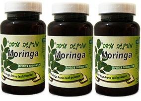 מבצע - שלישיית כמוסות עלי מורנגה (360 כמוסות) - מורינגה ערבה