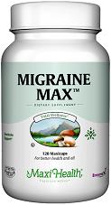מיגרנה מקס (120 קפסולות) - Maxi Health - חסר במלאי