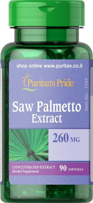 סו פלמטו תמצית דקל ננסי (90 כמוסות רכות) - Puritan's Pride