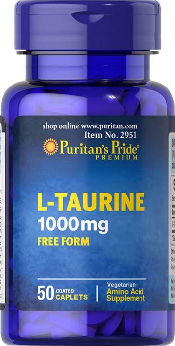 """ל-טאורין 1000 מ""""ג (50 טבליות) - Puritan's Pride"""
