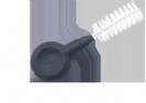 """פלקסי גריפ מברשת בין שינית עם ידית אחיזה עובי 9.5 מ""""מ 1080 Flexi Grip - פארו PARO"""