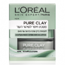"""LOREAL - מסכת חימר Pure Clay פיור קליי לטיהור העור (50 מ""""ל) - לוריאל"""