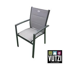 כסא אלומניום לבן בד כפול