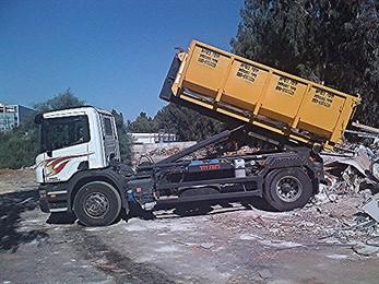 משאית פינוי פסולת בניין - רמסע