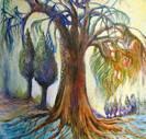 """הדפס קנבס איכותי לציור """"העץ הגדול"""""""