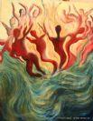 הדפס קנבס איכותי לציור האש ומים