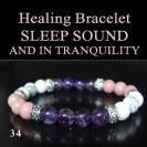SLEEP SOUND AND IN TRANQUILITY Healing Bracelet-Smokey Quartz Aventurin Amethyst