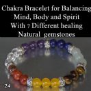 Chakra Set with 7 different healing stones to balance your body and mind Healing