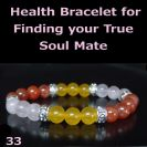 Finding your True Soul Mate - Rosequartz Rose Agate Jade Healing Bracelet