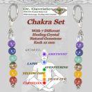 Luxury keychain with 7 Chakra Gemstones Window Car Hanging Ornaments,